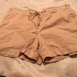 J Crew khaki shorts with drawstring